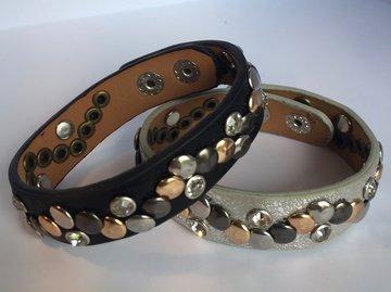 Armband met diamantjes en studs