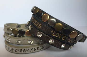 Wikkelarmband *Love*Hope*Happiness
