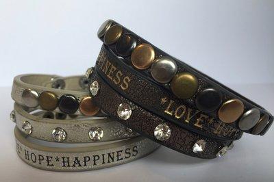 Wikkelarmband *Love*Hope*Happiness